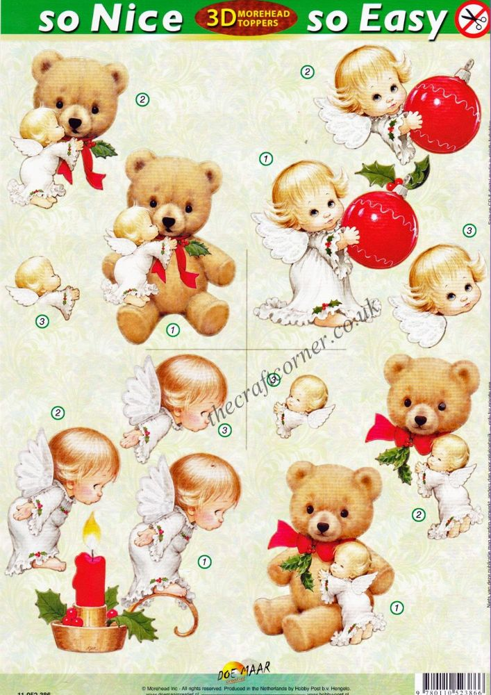 Christmas angels so nice so easy morehead 3d die cut for So nice images