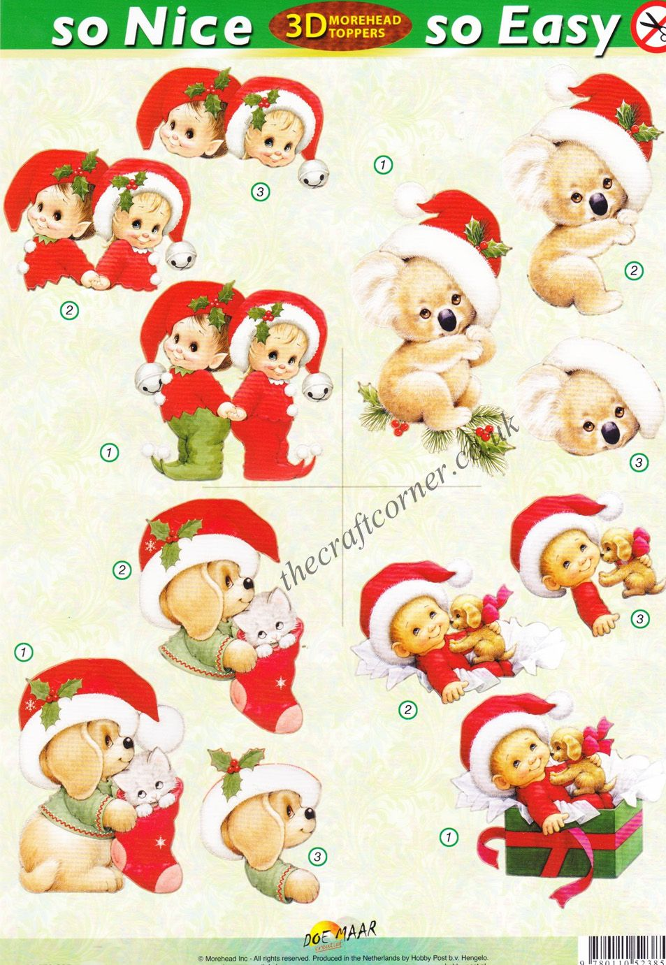Christmas Koala Bear And Other Animals So Nice So Easy