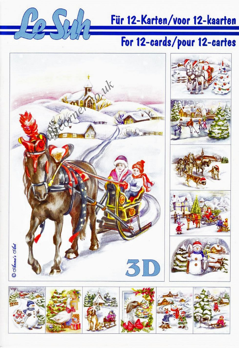 Assez Christmas Scenes A5 3D Decoupage Book from Le Suh QB47