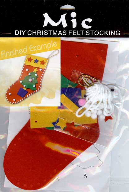 Diy christmas tree felt stocking childrens craft kit for Stocking crafts for toddlers