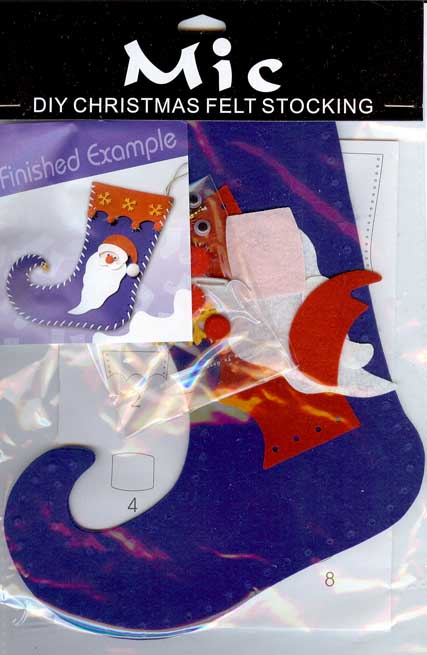 Diy father christmas felt stocking childrens craft kit for Stocking crafts for toddlers