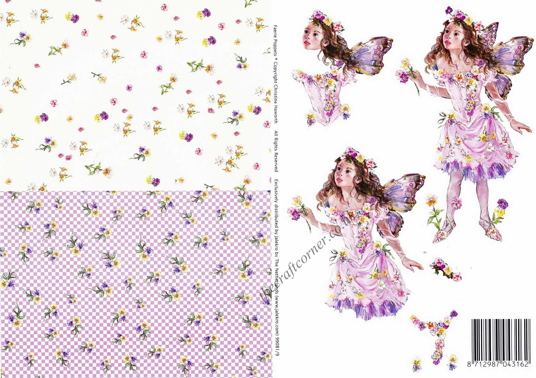 Faerie Poppets 9 3d Decoupage Amp Backing Paper Designed By