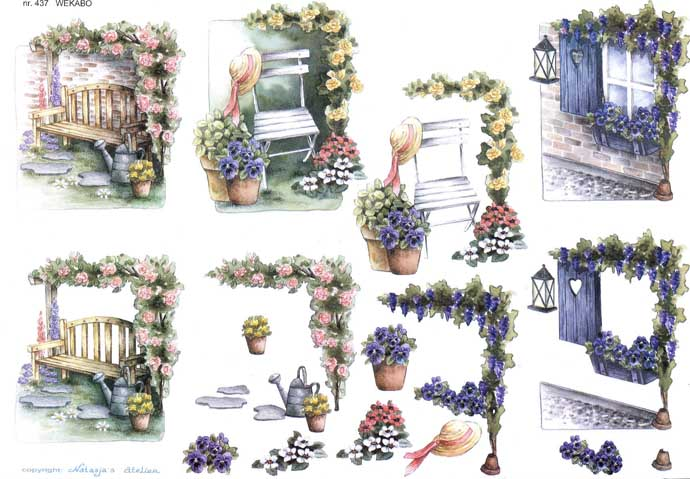 In The Garden 3d Decoupage Craft Sheet