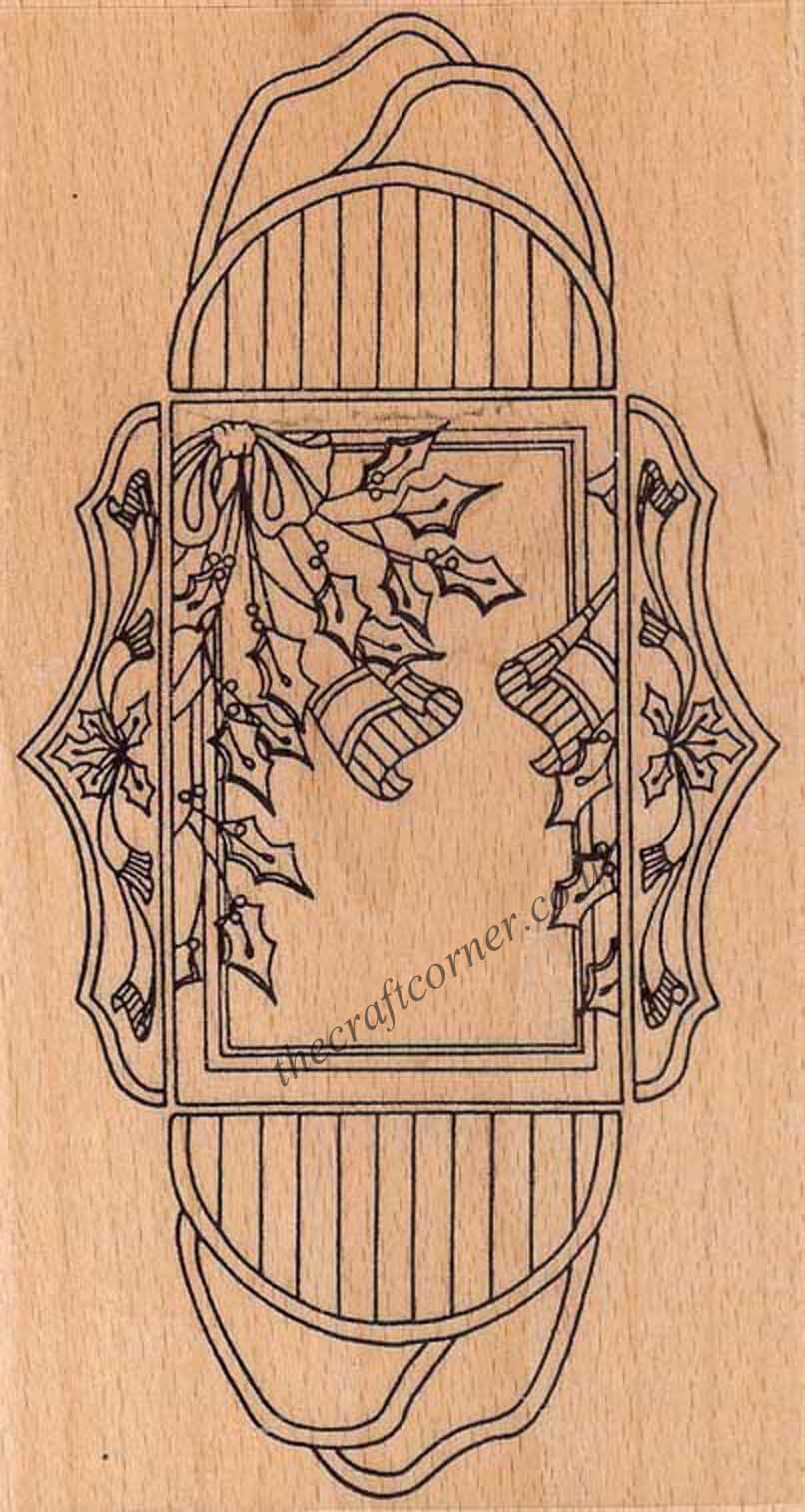 Just Holly Treasure Box Rubber Stamp From Creative Expressions