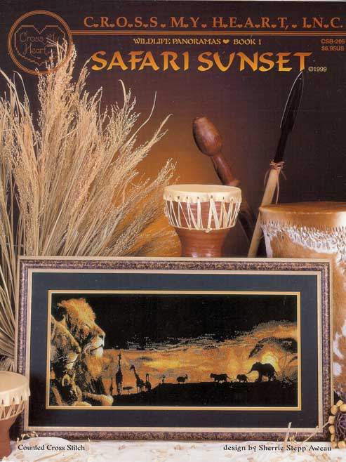 Safari Sunset Cross Stitch Chart - Cross My Heart Inc