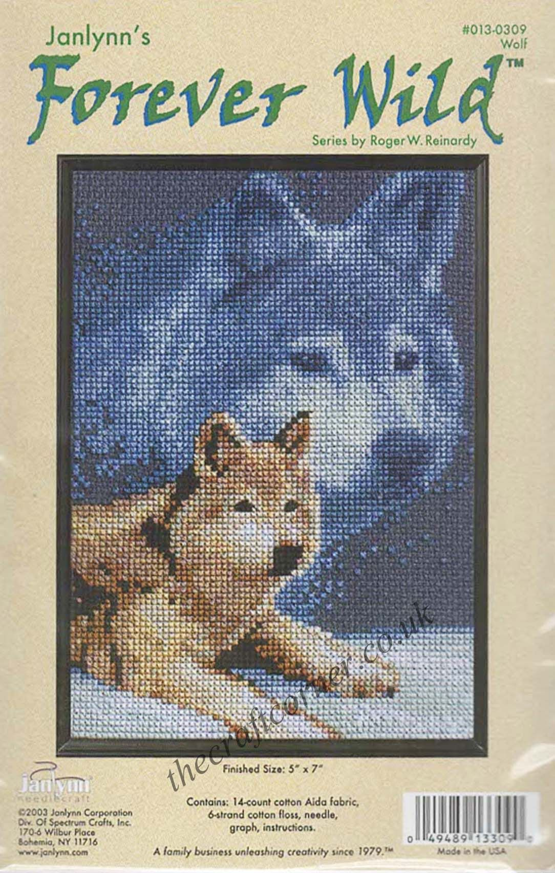 Wolf Counted Cross Stitch Kit From The Janlynn Forever