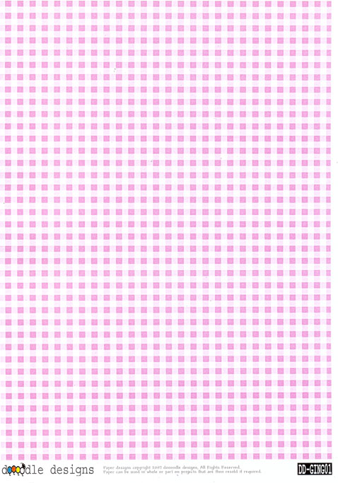 Gingham Check A4 Backing Paper