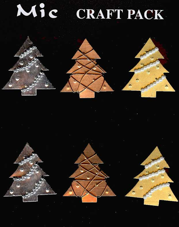 Christmas Toppers For Card Making.6 Metal Christmas Tree Toppers