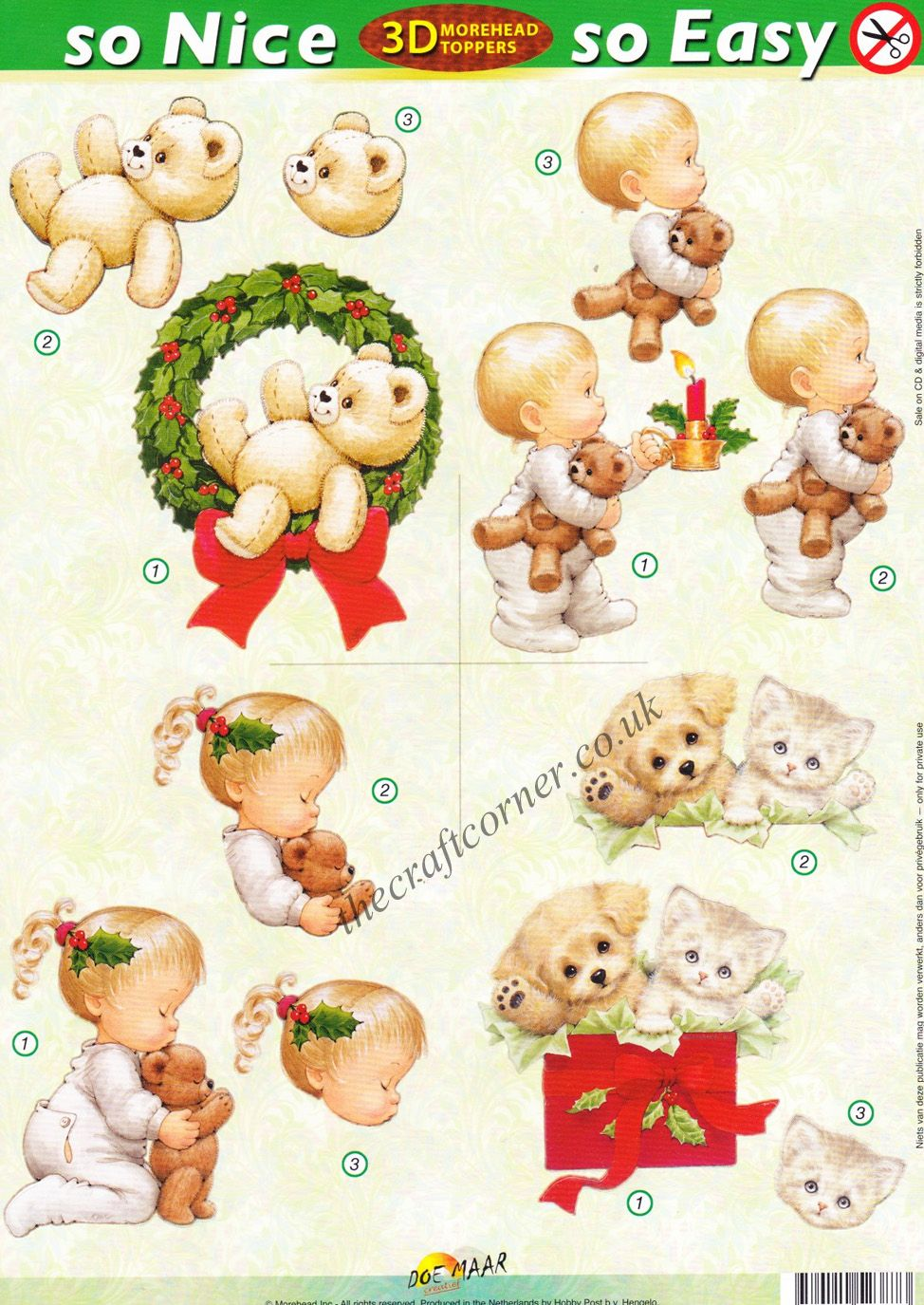 Christmas Children And Teddy Bears So Nice So Easy