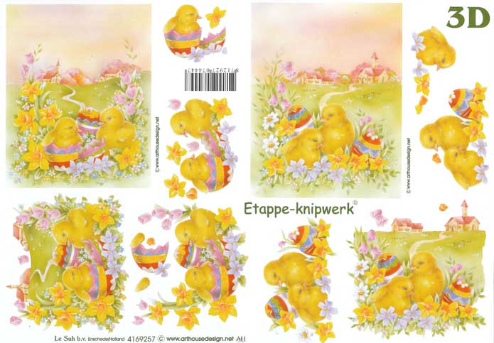 Easter Chick 3d Decoupage Sheet From Le Suh