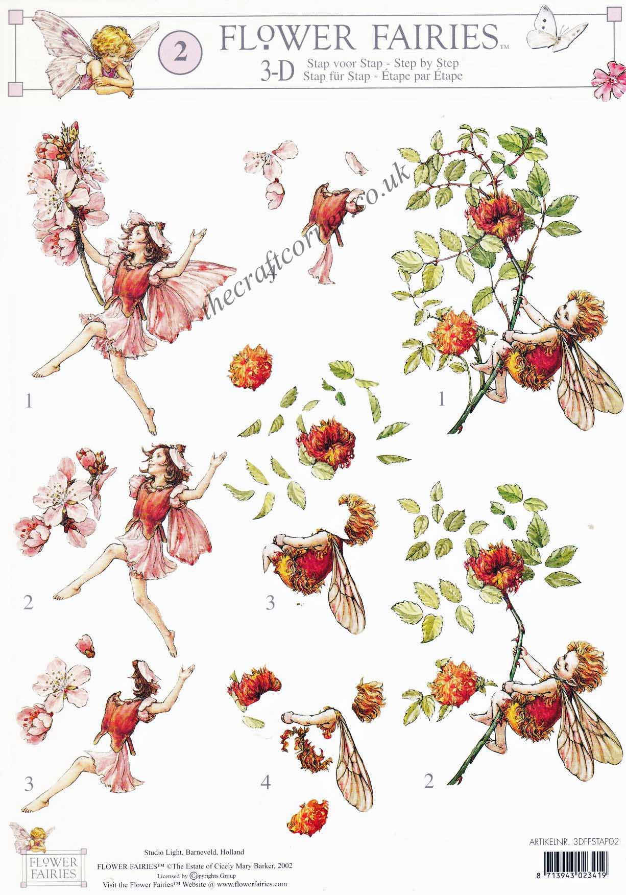 Flower Fairy 2 Almond Blossom By Cicely Mary Barker 3d