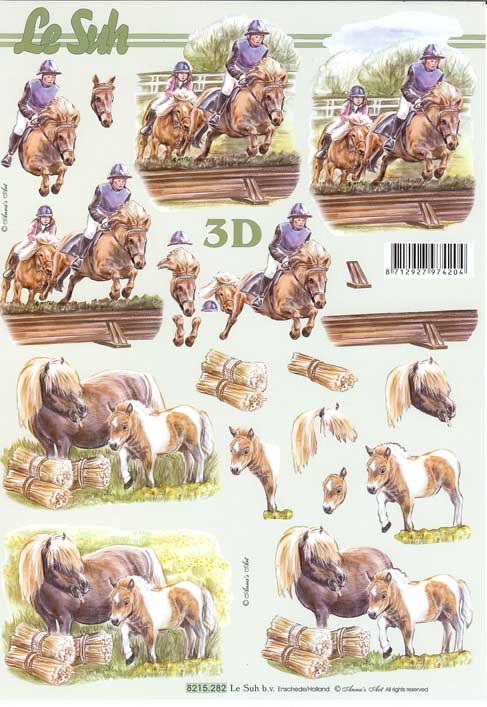 Horse Amp Pony 3d Decoupage Sheet From Le Suh