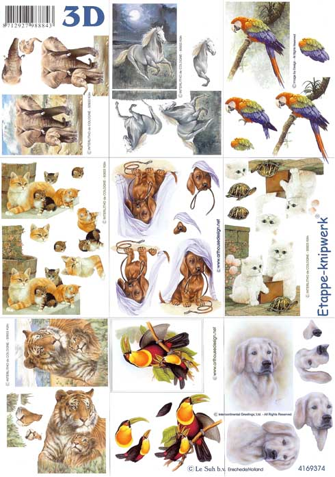 Mini Animal 3d Decoupage Designs
