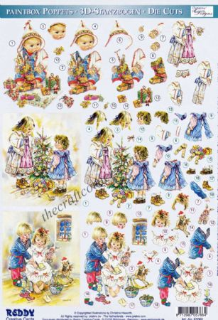 Dufex-Paintbox Poppets Die-cut Christmas Children 5 Christine Haworth Designs