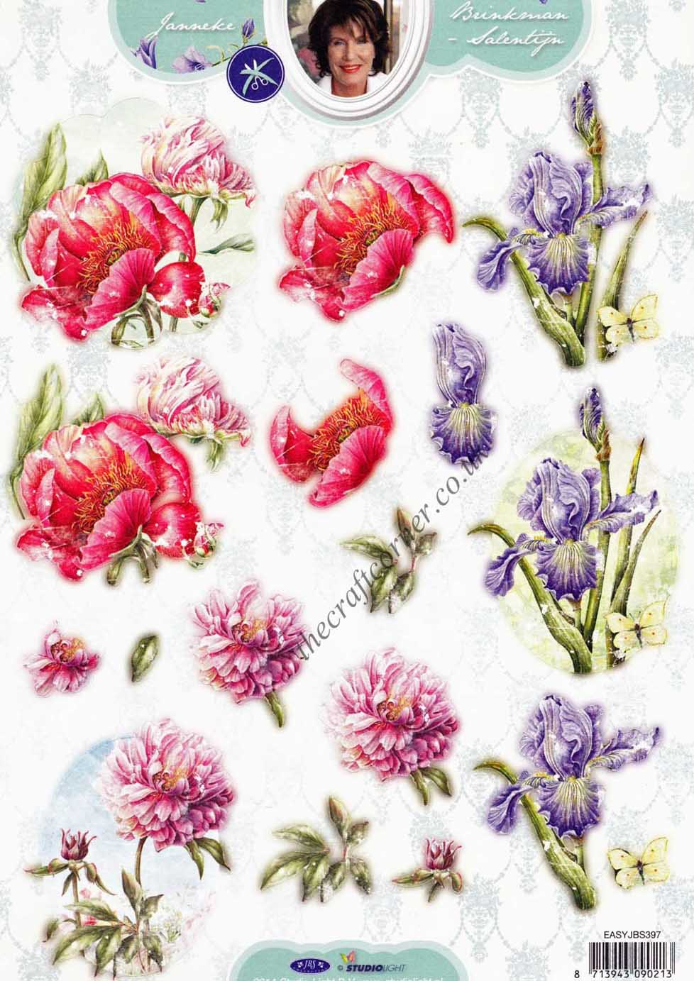 Poppy Amp Iris Flower Die Cut 3d Decoupage Sheet