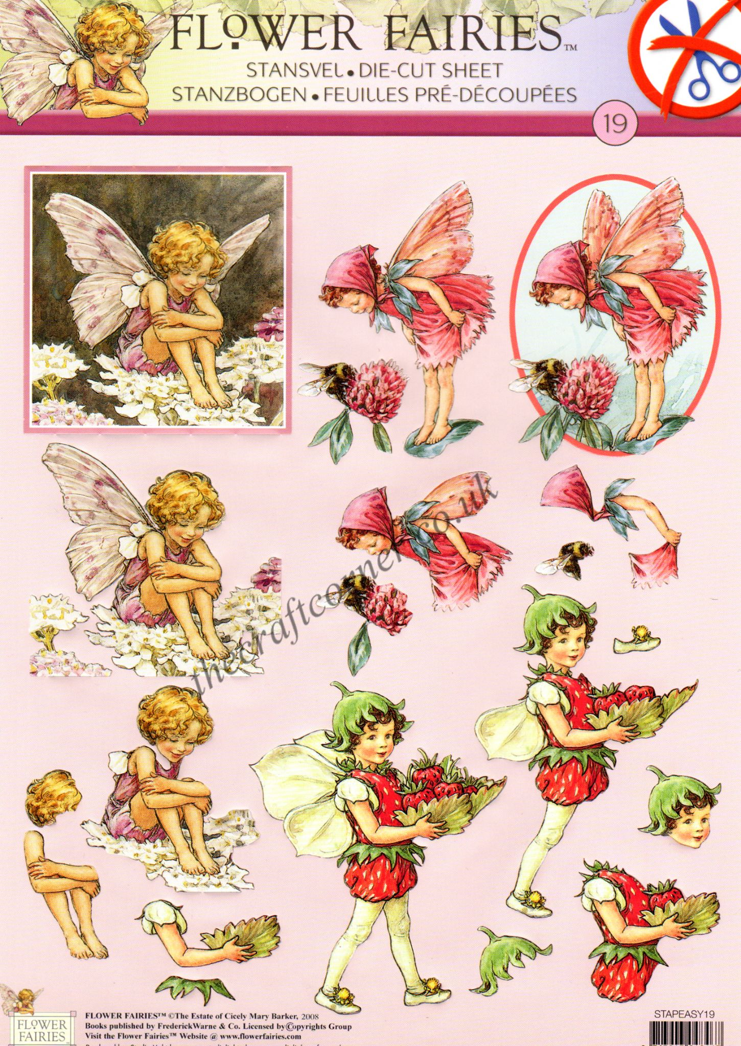 Strawberry Red Clover Amp Candytuft Flower Fairy 19 3d